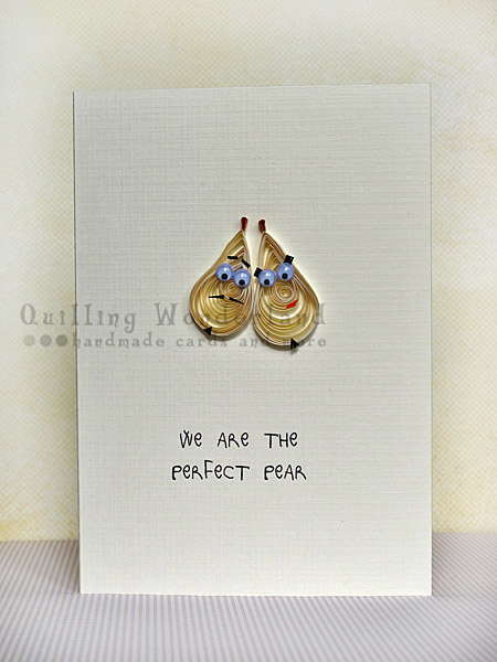 Perfect Pear Anniversary Valentines Pun Handmade Card