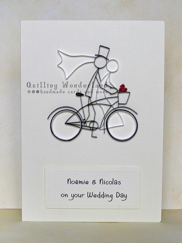 Wedding Bike Ride Custom Made Greeting Card