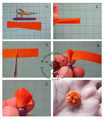 Double fringed flower tutorial
